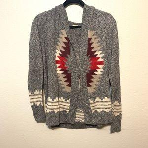 HOLSTER hoodie cardigan Aztec
